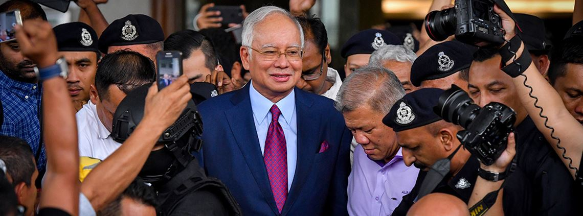 Najib Razak has been charged with corruption over the 1MDB scandal © Xinhua News Agency/PA Images