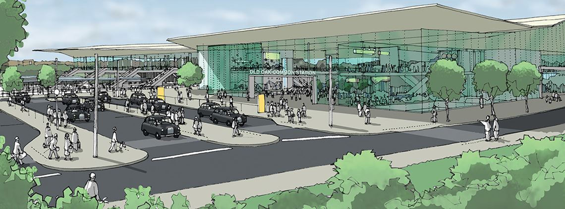 How the HS2 station was envisaged before OPDC lobbied for more funds ©HS2 Ltd