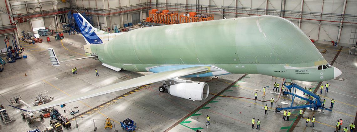 Airbus's BelugaXL is designed to fly parts between its European factories © Airbus S.A.S.