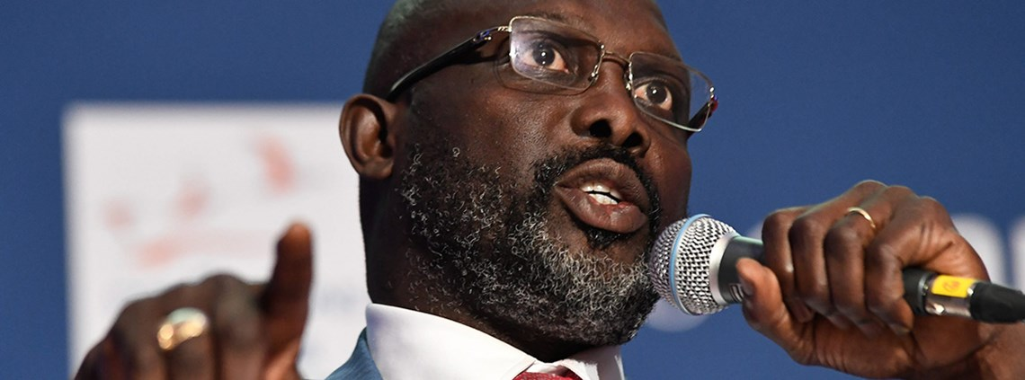 A number of president George Weah's policies are not compliant with procurement law ©Maxppp/PA Images
