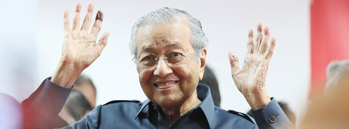 Mahathir Mohamad faces challenges around corruption and Chinese investment © Xinhua News Agency/PA Images