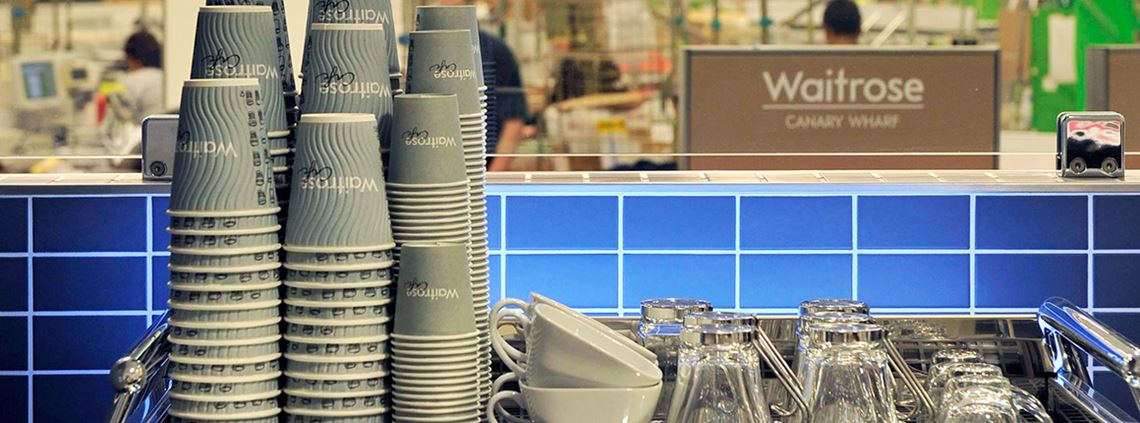 Waitrose used to be the biggest buyer of coffee cups in the UK © Adrian Brooks / Imagewise