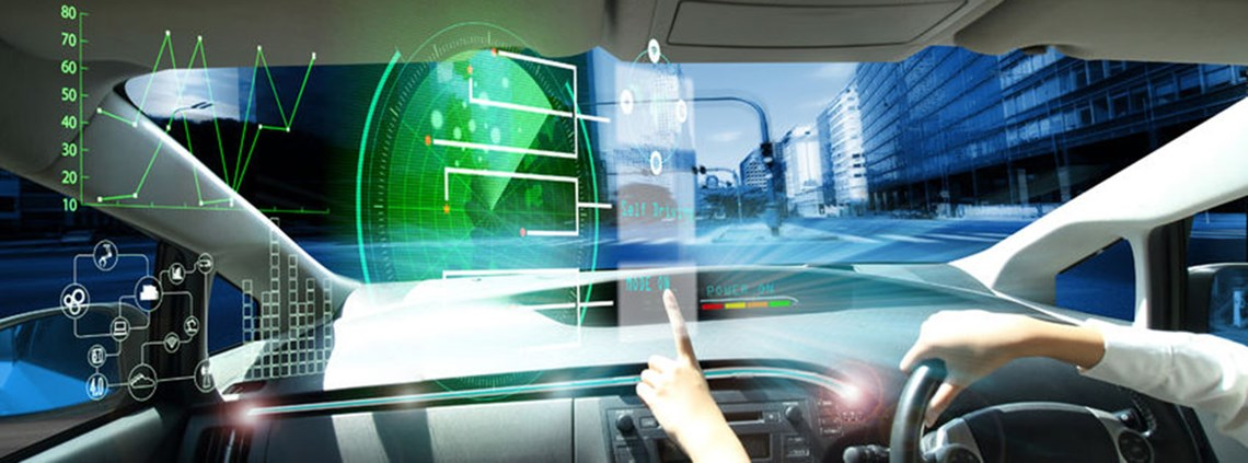 Self-driving cars are one application of AI © 123RF