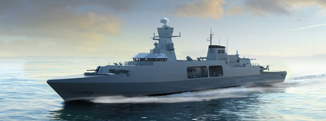 BAE Systems' proposed design for the Type 31e frigate © BAE Systems