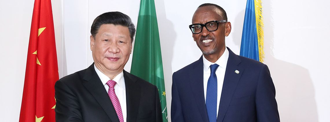 Presidents Xi and Kagame signed a $76m loan agreement for a road from the Huye region to Kibeho in south Rwanda © Xinhua News Agency/PA Images