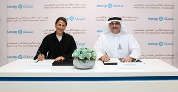 "Mariam bint Mohammed Saeed Hareb Almheiri, Minister of State for Future Food Security, said the agreement was the ""cornerstone of achieving future food security objectives"" © Masdar"