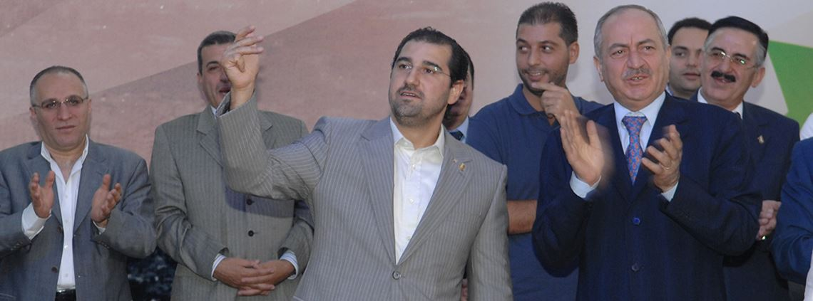 Rami Makhlouf (middle) is estimated to control 60% of Syria's economy ©Balkis Press/ABACAPRESS.COM