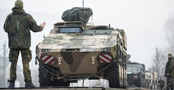 The Boxer is a light armoured personnel carrier ©DPA/PA Images
