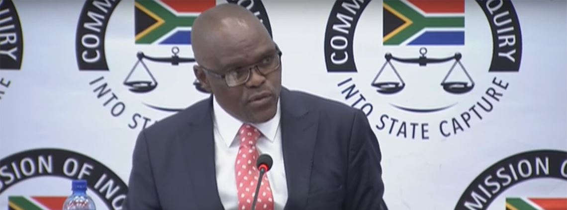 Willie Mathebula said the ombudsman would scrutinise irregularities © Commission of Inquiry into State Capture