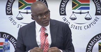 Mathebula's testimony came on the second day of the inquiry into government corruption