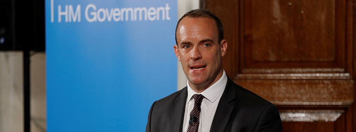 Brexit secretary Dominic Raab said a deal was 'within our sights' © PA Images