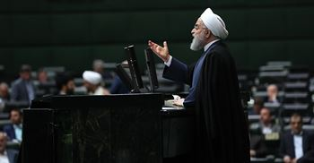 Iranian President Hassan Rouhani speaks during a parliamentary session in Tehran ©PA Images