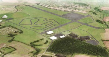 The facility will include test tracks for handling, rural and off-road courses and a high-speed runway