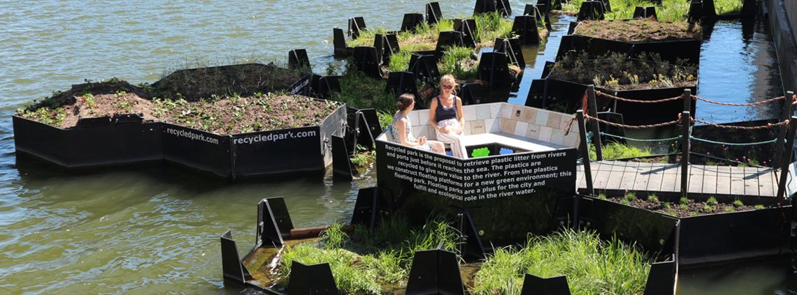 Rotterdam's serene public space that stops plastic reaching the ocean