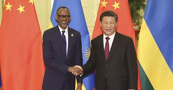 Xi's pledge follows his tour of Africa in which he signed 15 trade deals with Paul Kagame of Rwanda (pictured) ©ZUMA Press/PA Photos