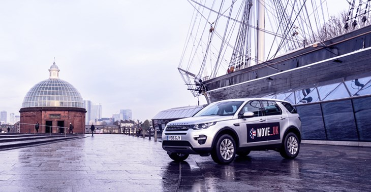 Move UK's fleet of cars is driving around Greenwich in South East London ©Julia Claxton
