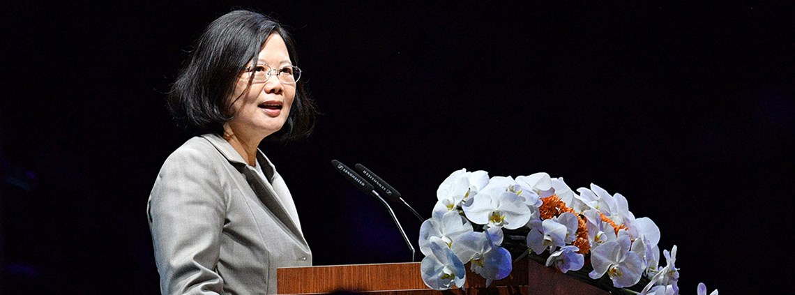 President Tsai-Ing Wen is mindful of Chinese efforts to isolate her country © AFLO/Press Association Images