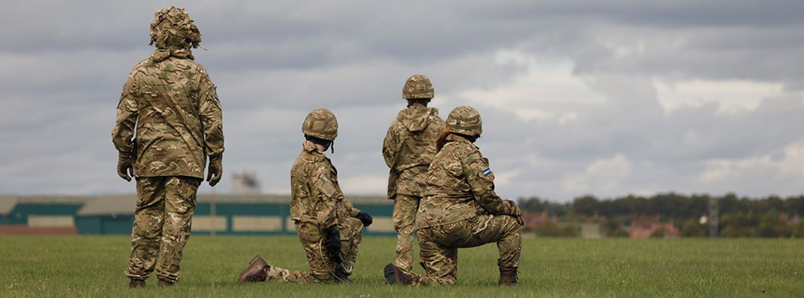 Suppliers of uniforms to the armed forces are among those who have not published a modern slavery statement, says research ©MoD/Crown copyright 2018
