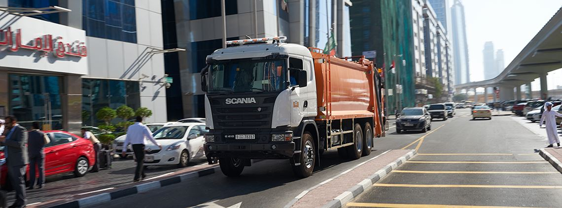 Scania recommended the region improve its routing and load management in a bid to optimise its transport industry. ©Scania CV AB