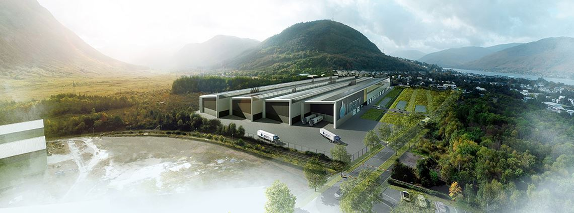 An artist's impression of the alloy wheel production plant in Fort William, Scotland. ©GFG Alliance/Liberty House Group