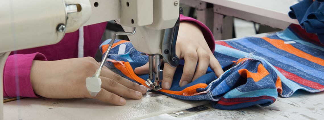 Up to 90% of garment workers in Leicester are paid below the minimum wage © 123RF