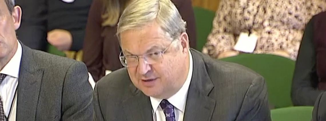 Mike Thompson, CEO of the Association of the British Pharmaceutical Industry, addressing MPs on Tuesday © Parliamentlive.tv
