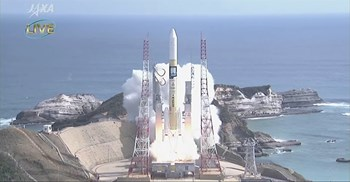 The KhalifaSat was launched on an H-IIA rocket in Japan on Monday © JAXA