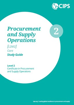 L2M2 Procurement and Supply Operations (CORE) Study Guide - Text Book