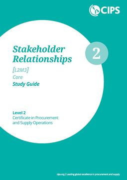 L2M3 Stakeholder Relationships (CORE) - Study Guide
