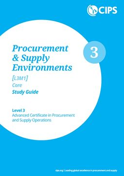 L3M1 Procurement and Supply Environments (CORE) - Study Guide
