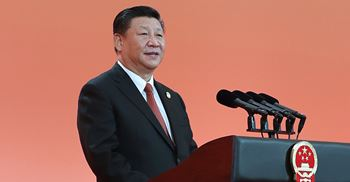 President Xi said the event was a major initiative to open up its market to the world © Xinhua News Agency/PA Images
