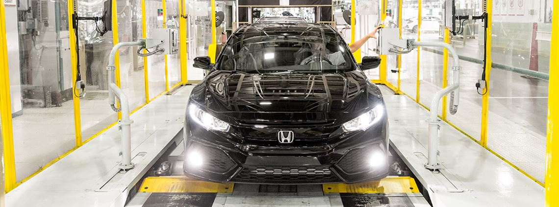 Honda's Swindon factory produced 150,000 cars each year © Honda