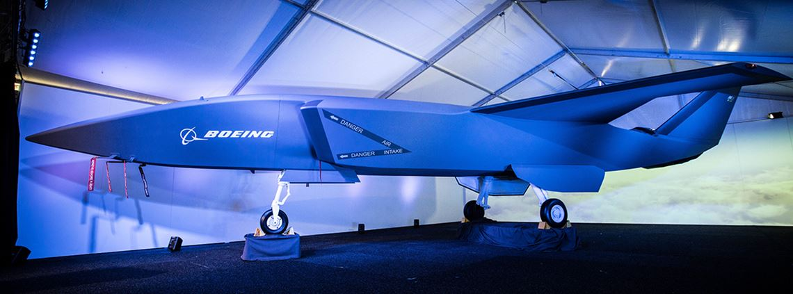 A model of the Loyal Wingman was unveiled at the Australian International Airshow last week © Boeing
