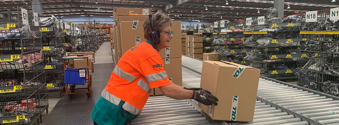 The warehouse had undertaken a series of upgrades from fitting an energy-efficient lighting system to optimising its 2.5km conveyor system © Toll Holdings Limited