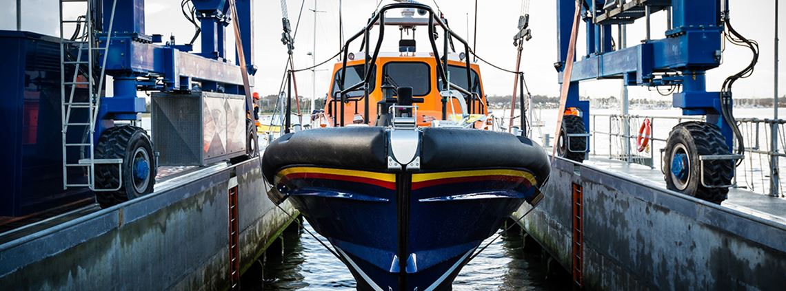 The RNLI manufactures six Shannon class lifeboats at its boatyard in Poole, Dorset, each year © Nathan Williams/RNLI