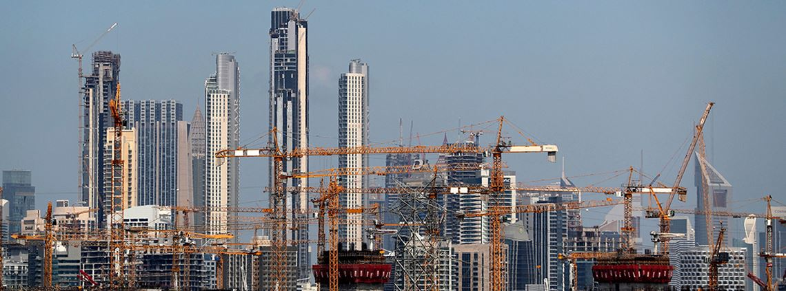 The construction sector in Dubai grew by 4.5% in 2018 © KSahib/AFP/Getty Images