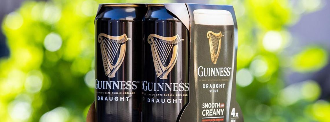 The new Guinness packaging will be rolled out in Ireland in August 2019 and globally in 2020 © Diageo