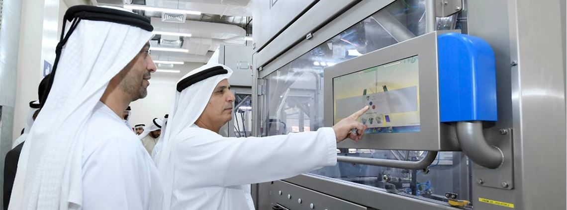 The new robotic system will produce 33,000 number plates per day. © RTA