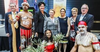 DHS held a ceremony honouring Australia's National Reconciliation Week in Tuggeranong in May 2018 ©DHS/Australian government