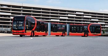 Car maker BYD in China has developed the world's longest electric bus ©BYD Electricos