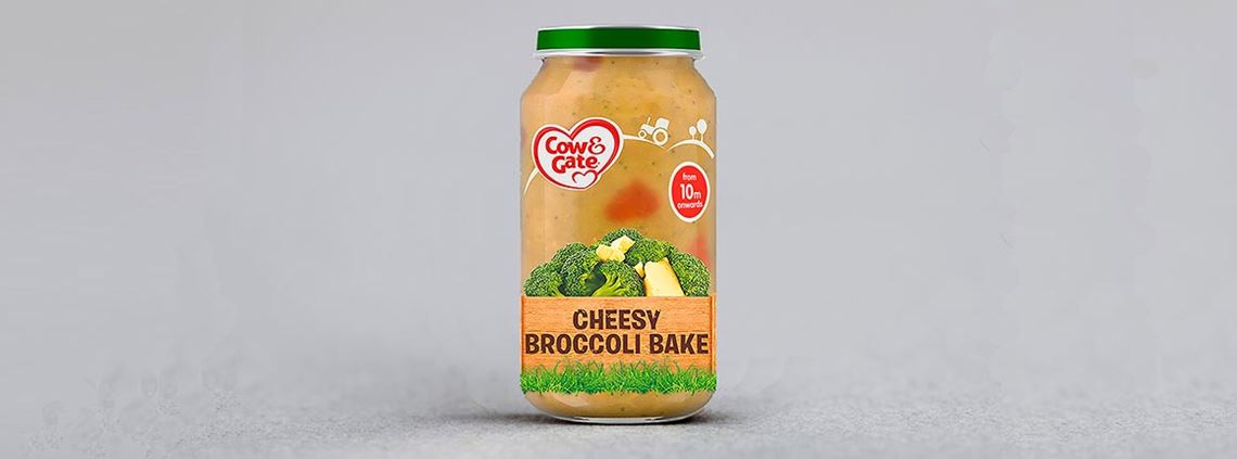 One batch of Cow & Gate's Cheesy Broccoli Bake was found to contain small pieces of blue rubber © Danone