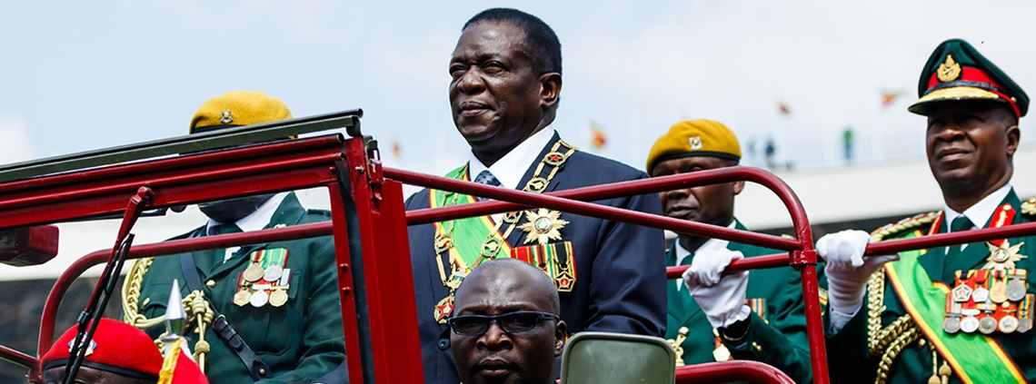 President Emerson Mnangagwa has said ethical behaviour in procurement is paramount © AFP/Getty Images