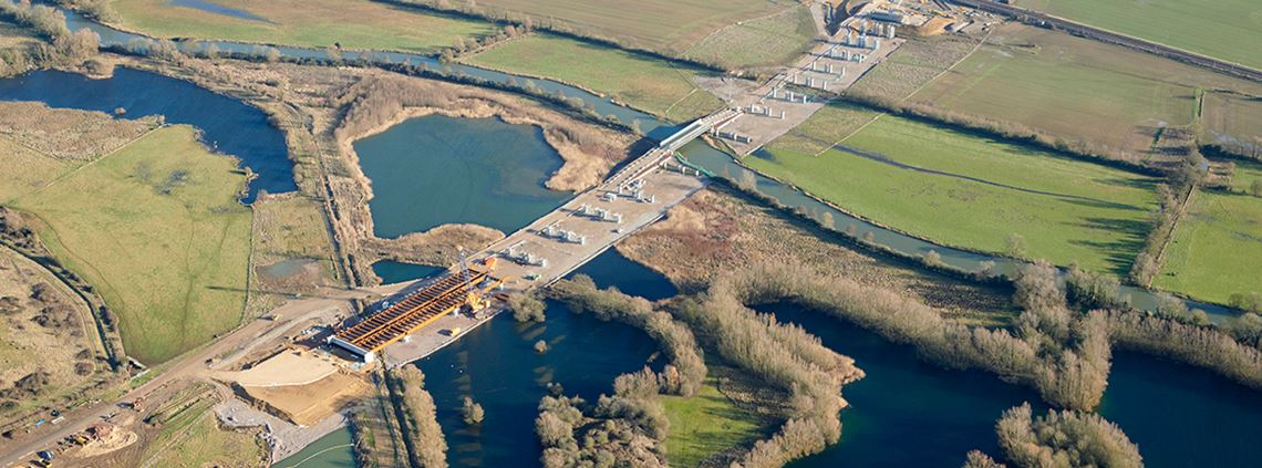 Digitalisation has enabled Skanska UK to minimise disruption on large projects such as the A14 road construction © Highways England
