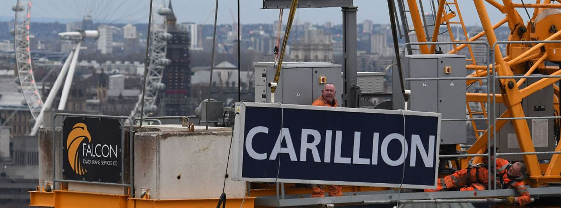 The government published its Outsourcing Playbook earlier this year in response to the collapse of Carillion © AFP/Getty Images