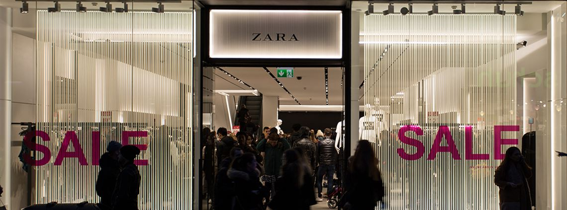 Zara stores will use 20% less electricity and 40% less water by next year © Hassani/LightRocket/Getty Images