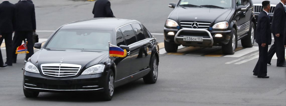 Kim Jong-un has been seen chauffeured in Mercedes-Benz limosines, a luxury vehicle. © Dmitry Yefremov\TASS via Getty Images