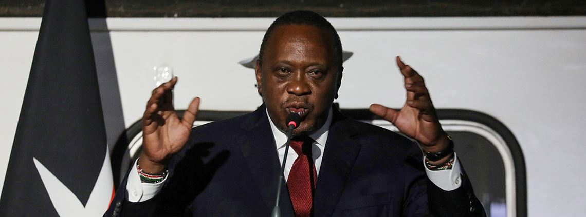 President Kenyatta commissioned the regeneration of the Rivertex cotton processing plant to boost Kenya's textile industry © AFP/Getty Images