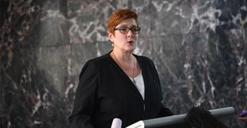 Australian Foreign Minister Marise Payne announced the country's initiative in collaboration with ASEAN. © LILLIAN SUWANRUMPHA/Getty Images