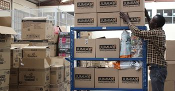 Jumia's warehouse in Nairobi, Kenya. © Jumia