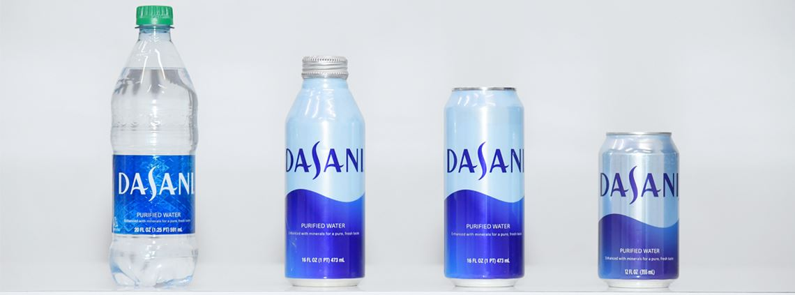 The new packaging supports the firm's efforts to reduce packaging waste around the world by 2030. © Mike Coppola/Getty Images for DASANI